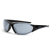 CrossFire Core Safety Glasses - Black Frame - Silver Mirror Lens