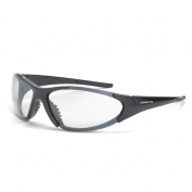 CrossFire Core Safety Glasses - Gray Frame - Clear Anti-Fog Lens
