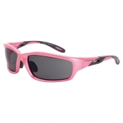 CrossFire Infinity Safety Glasses - Pink Frame - Smoke Lens