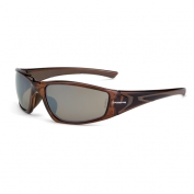 CrossFire RPG Safety Glasses - Brown Frame - Brown Mirror Lens
