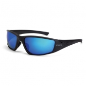 CrossFire RPG Safety Glasses - Black Frame - Blue Polarized Mirror Lens