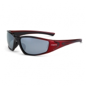 CrossFire RPG Safety Glasses - Red Frame - Silver Mirror Lens
