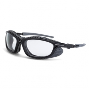 CrossFire Eclipse Safety Glasses - Gray Foam Lined Frame - Clear Anti-Fog Lens