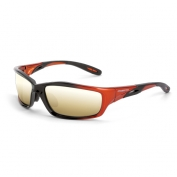 CrossFire Infinity Safety Glasses - Orange Frame - Gold Mirror Lens