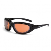 CrossFire Journey Safety Glasses - Black Foam Lined Frame - Copper Lens
