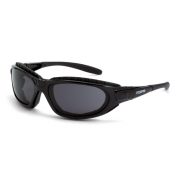 CrossFire Journey Safety Glasses - Black Foam Lined Frame - Smoke Anti-Fog Lens
