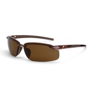 CrossFire ES5 Safety Glasses - Brown Frame - Brown Polarized Lens