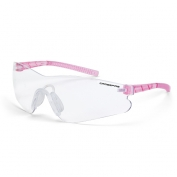 CrossFire Mini Blade Safety Glasses - Pink Temples - Clear Anti-Fog Lens
