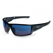 CrossFire 41626 Cumulus Safety Glasses - Black Frame - Blue Mirror Lens