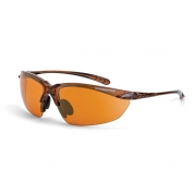 CrossFire Sniper Safety Glasses - Brown Frame - Copper Lens