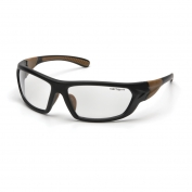 Carhartt Carbondale Safety Eyewear - Black/Tan Frame - Clear Anti-Fog Lens