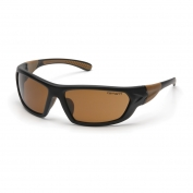 Carhartt Carbondale Safety Eyewear - Black/Tan Frame - Brown Lens