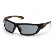 Carhartt Carbondale Safety Eyewear - Black/Tan Frame - Gray Anti-Fog Lens