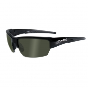 Wiley X Saint Sunglasses - Gloss Black Frame - Polarized Green Lens
