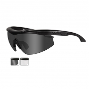 Wiley X Talon Safety Glasses - Matte Black Frame - Grey & Clear Lenses