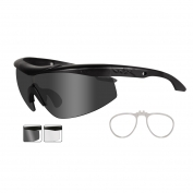 Wiley X Talon Safety Glasses w/ RX Insert - Matte Black Frame - Grey & Clear Lenses