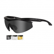 Wiley X Talon Safety Glasses - Matte Black Frame - Grey, Clear & Rust Lenses