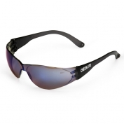 Crews CL118 Checklite Safety Glasses - Smoke Temples - Blue Mirror Lens