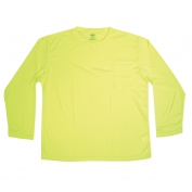 CLC SS08 2XL Non-ANSI Long Sleeve Safety Shirt - Yellow/Lime