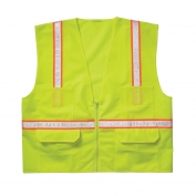 CLC SV14 Economy Non ANSI Surveyor Safety Vest - Yellow/Lime