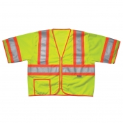 CLC SV26 Class 3 Two-Tone Safety Vest - Yellow/Lime
