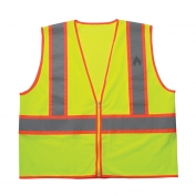 CLC SV34 Class 2 Self Extinguishing Two-Tone Safety Vest - Yellow/Lime