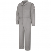 Bulwark FR CLD4 Men's Deluxe Coverall - Excel FR CoolTouch 2 - 6 oz. - Grey