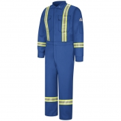 Bulwark FR CNBTRB Men's Premium Coverall with Reflective Trim - Nomex IIIA - 6.0oz