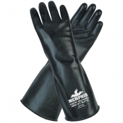 Memphis CP14 Butyl Rubber Gloves - 14 mil Smooth Finish - Black