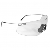 Radians Clay Pro Shooting Glasses - Silver Temples - Clear Lens