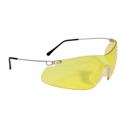 Radians Clay Pro Shooting Glasses - Silver Temples - Amber Lens