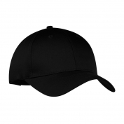 Port & Company CP80 Six-Panel Twill Cap - Black
