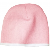 Port & Company CP91 Beanie Cap - Light Pink/White