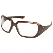 Crews CR1220 Crews 2 Safety Glasses - Tortoise Shell Frame - Clear Lens