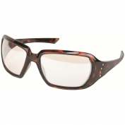 Crews CR1229 Crews 2 Safety Glasses - Tortoise Shell Frame - Indoor/Outdoor Mirror Lens
