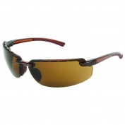 Crews CR132BAF Crews 3 Safety Glasses - Brown Translucent Frame - Brown Polarized Anti-Fog Lens