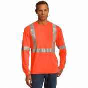 CornerStone CS401LS Class 2 Long Sleeve Safety T-Shirt - Orange