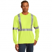 CornerStone CS401LS Class 2 Long Sleeve Safety T-Shirt - Yellow/Lime
