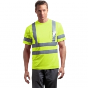 CornerStone CS408 Class 3 Safety T-Shirt - Yellow/Lime