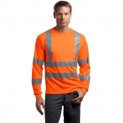CornerStone CS409 Type R Class 3 Long Sleeve Safety T-Shirt - Orange