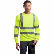 CornerStone CS409 Type R Class 3 Long Sleeve Safety T-Shirt - Yellow/Lime