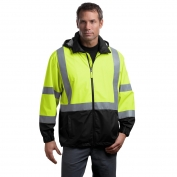 CornerStone CSJ25 Type R Class 3 Safety Windbreaker - Yellow/Lime