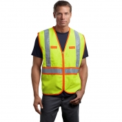 CornerStone CSV407 Type R Class 2 Two Tone Solid Safety Vest - Safety Yellow