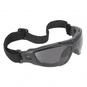 Radians Cuatro 4-In-1 Safety Glasses/Goggles - Smoke Foam Lined Frame - Smoke Anti-Fog Bifocal Lens