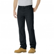 Dickies 17-292 Regular Straight Fit 5-Pocket Denim Jeans - Rinsed Overdyed Black