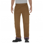 Dickies DU217 Relaxed Straight Fit Flannel-Lined Carpenter Duck Jeans