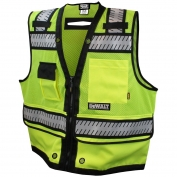 DeWalt DSV521 Class 2 Heavy Duty Surveyor Safety Vest - Yellow/Lime