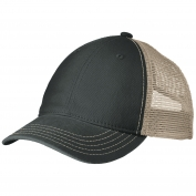 District DT630 Super Soft Mesh Back Cap - Black/Khaki
