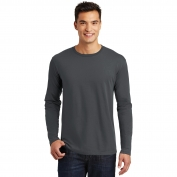 District Made DT105 Mens Perfect Weight Long Sleeve Tee - Charcoal