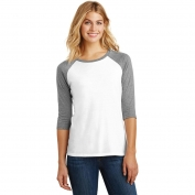 District Made DM136L Ladies Perfect Tri 3/4-Sleeve Raglan